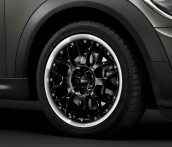 7J x 17 Cross-spoke composite R90 high-gloss Black