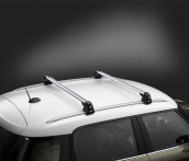 Roof rack base support system, lockable