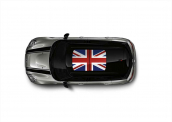 Glass roof decor Union Jack