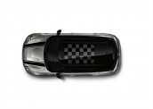 Glass roof dec Chequered Flag black/grey