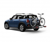 Rear bicycle carrier, compact RHD